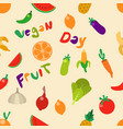 fruit vegetable seamless pattern vector image vector image