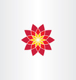 geometric red flower icon sign vector image vector image
