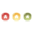 Glossy Home buttons vector image vector image