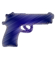 Gun sign vector image
