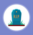 halloween tombstone icon sign symbol vector image vector image