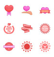 happy mama day icons set cartoon style vector image vector image