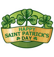 happy st patricks day label vector image