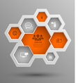 hexagon group with icons vector image vector image