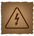High voltage danger sign vector image vector image