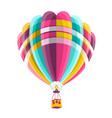hot air balloon isolated on white background icon vector image