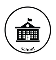 Icon of School building vector image