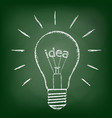 idea inside the bulb vector image
