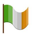 isolated waving flag of ireland vector image