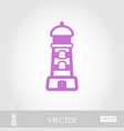 Lighthouse outline icon summer vacation