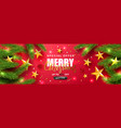 merry christmas saleuniversal red vector image vector image