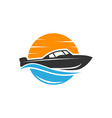 modern fast ship logo vector image