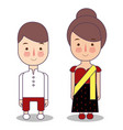 myanmar burma wedding couple cute indonesian vector image vector image