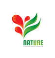nature - logo template concept vector image vector image