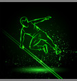 parkour man jump over an obstacle green vector image vector image
