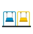 Playground swing icon vector image vector image