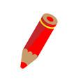 red pencil vector image vector image