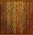 round pattern on wooden background vector image vector image