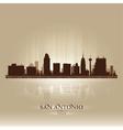 San Antonio Texas skyline city silhouette vector image