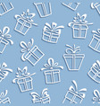 Seamless pattern gift boxes with a shadow vector image
