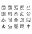 search engine optimization and web icon set vector image