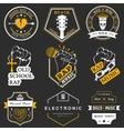 set logos and badges music vector image