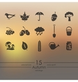 Set of autumn icons vector image vector image