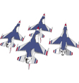 Set of jets vector image vector image