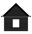 siding front the black color icon vector image vector image
