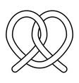 soft pretzel twisted knot bread pretzel vector image