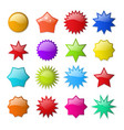 starburst shape stickers vector image vector image