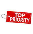 top priority label or price tag vector image vector image