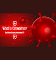 viral bacteria on a red background vector image vector image