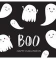 cute halloween ghosts card vector image