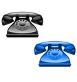 retro glossy telephone icons vector image