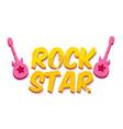 hipster cartoon retro label rock star vector image