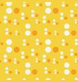 abstract circle drop seamless pattern vector image vector image