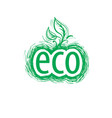 Abstract eco sign of the icon
