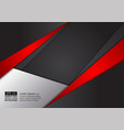 abstract geometric red and black color modern vector image vector image
