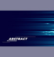 blue background with glowing horizontal lines vector image vector image
