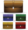 briefcase set vector image vector image