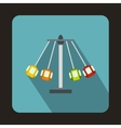 Carnival swing ride icon flat style vector image vector image