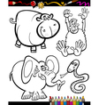 Cartoon Animals for Coloring Book vector image vector image