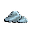cartoon cloud graffiti artistic design vector image