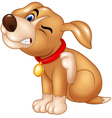 Cartoon dog scratching an itch vector image vector image