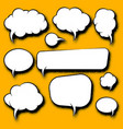 cartoon speech bubbles vector image vector image