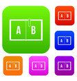 children abc set color collection vector image