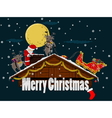 Christmas roof vector image