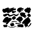 collection black brush strokes an line vector image vector image