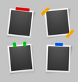 collection of blank photo frames with adhesive vector image vector image
